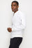 Zinovizo Men's White Bomber casual Jacket with Zipper Arm Pocket-100% premium cotton