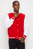 Zinovizo Men's Red Baseball Jacket with Hoodie