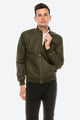 Zinovizo Men's Slim-Fit Green Khaki Bomber Jacket