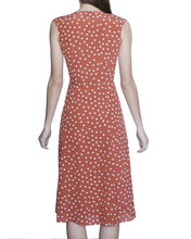 Lovina 100% Silk Wrap Dress, Rust-Polka Dots - Ondululations womens silk dresses