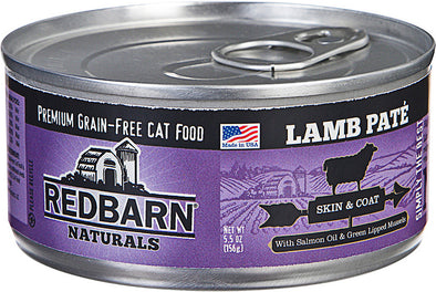 Redbarn Pet Products-food - Redbarn Naturals Pate Cat Can- Skin/coat (Case of 24 )