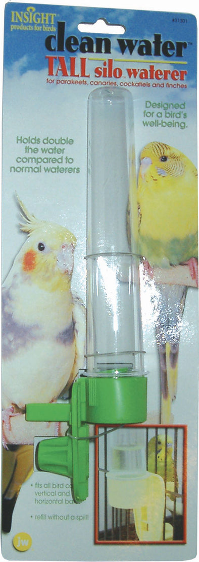 Jw - Small Animal/bird - Jw Clean Water Tall Silo Bird Waterer