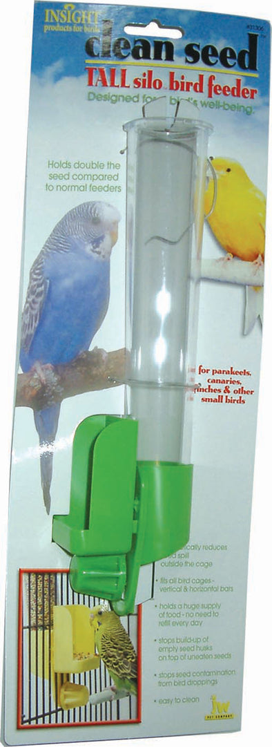Jw - Small Animal/bird - Jw Clean Seed Tall Silo Bird Feeder