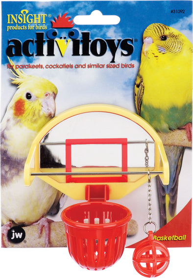 Jw - Small Animal/bird - Activitoys Birdie Basketball Bird Toy