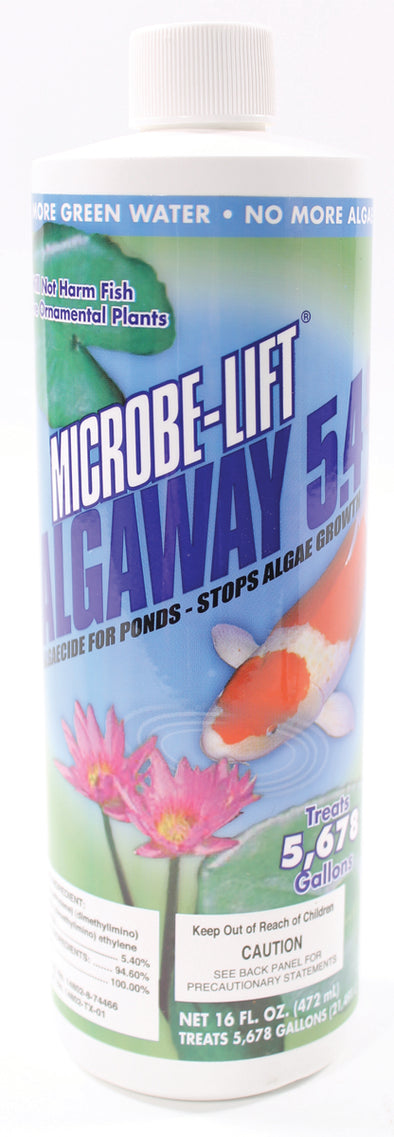 Ecological Laboratories - Microbe-lift Algaway 5.4 Algaecide For Ponds