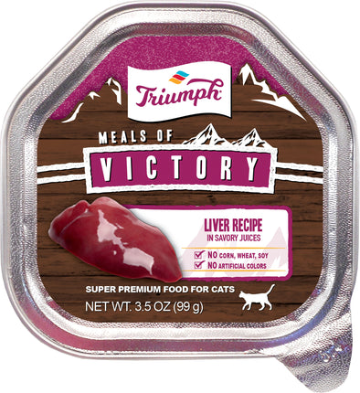 Triumph Pet Industries - Triumph Victory Wet Cup Cat Food (Case of 15 )
