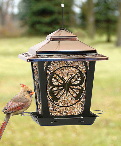 Audubon/woodlink - Hopper Style Bird Feeder With Buttefly Design