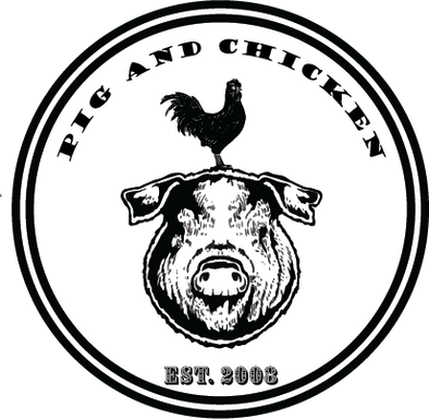 Pig And Chicken Logo | Sticker