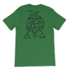 Chicken Butt | Black Ink | Jersey T-Shirt | Back Print Only