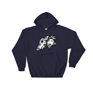 SUGAR SKULLS | BW | HOODED SWEATSHIRT