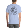 Chicken Butt | Black Ink | Short-Sleeve Unisex T-Shirt | Front and Back Print