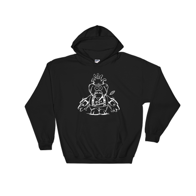 Flying Pig | White Ink | Hooded Sweatshirt