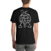 Chicken Butt | White Ink | Short-Sleeve Unisex T-Shirt | Front and Back Print