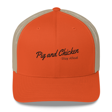 Pig And Chicken | Stay Afloat | Trucker Cap