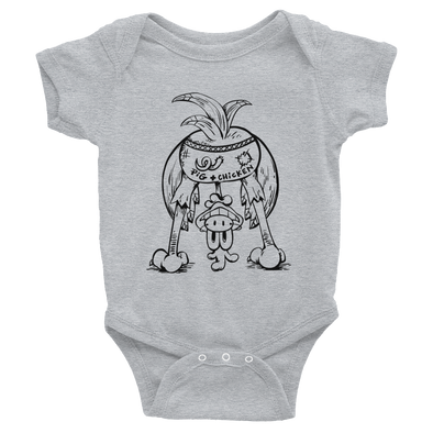 Chicken Butt | Black | Infant Bodysuit