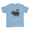 Chicken on Back | Youth Short Sleeve T-Shirt