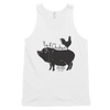 Chicken On Back | Classic Tank Top (unisex) | Front Print Only