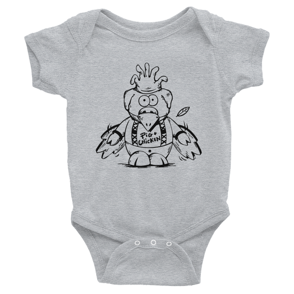 Flying Pig | Black | Infant Bodysuit