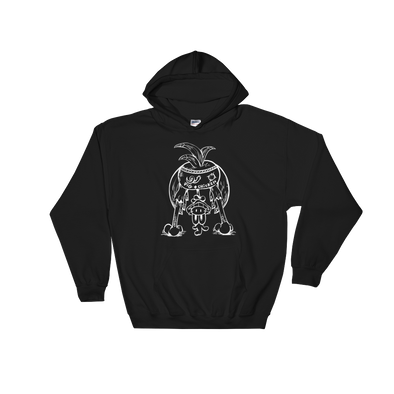 Chicken Butt | White Ink | Hooded Sweatshirt