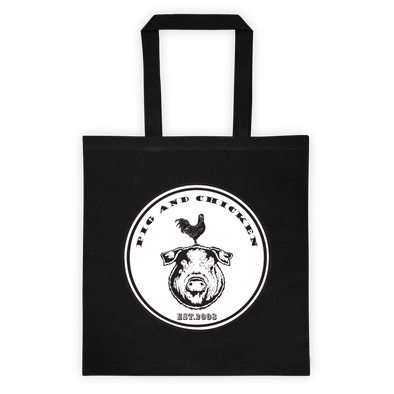 Pig and Chicken Logo | Tote bag