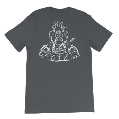 Flying Pig | White Ink | Jersey T-Shirt | Back Print Only