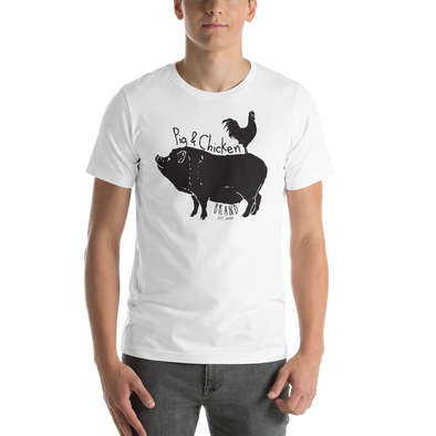 Chicken On Back | Short-Sleeve Unisex T-Shirt