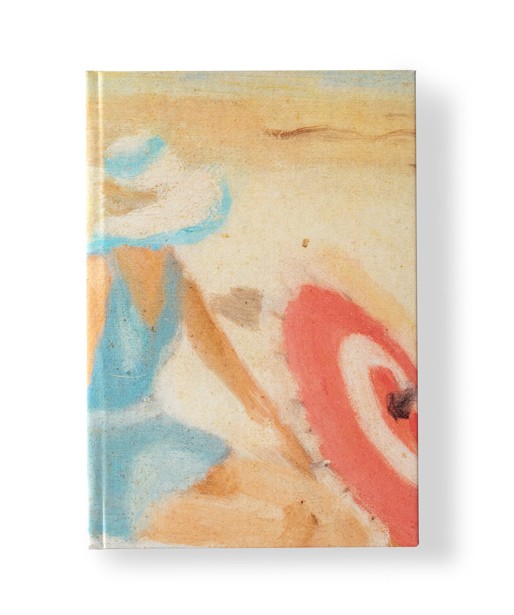Clarice Beckett Hardcover A5 Notebook 'The red sunshade'
