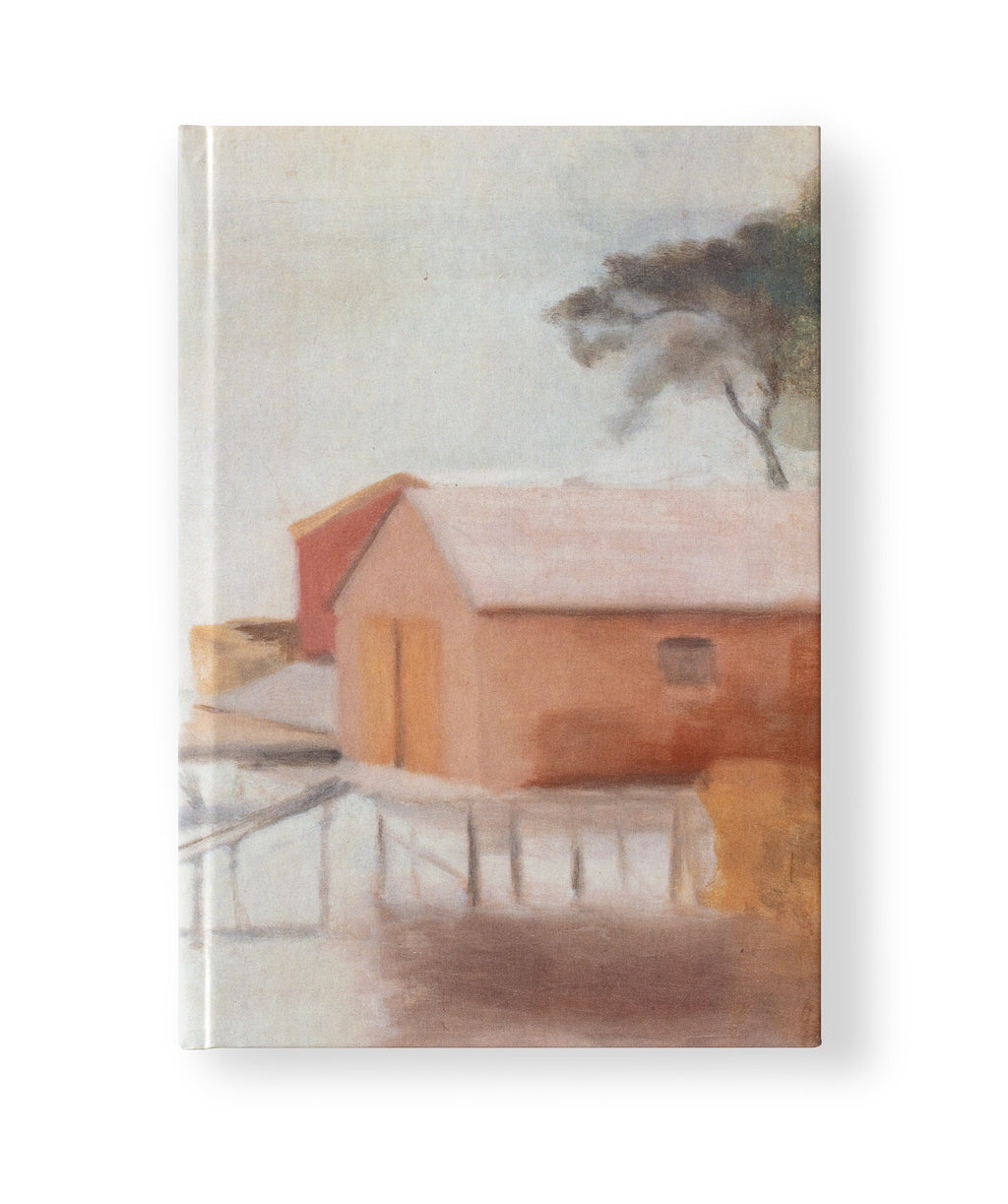 Clarice Beckett Hardcover A5 Notebook 'The boatshed'