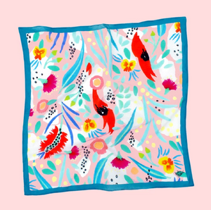 Julie White, Abstract Oz Pink - Small Scarf