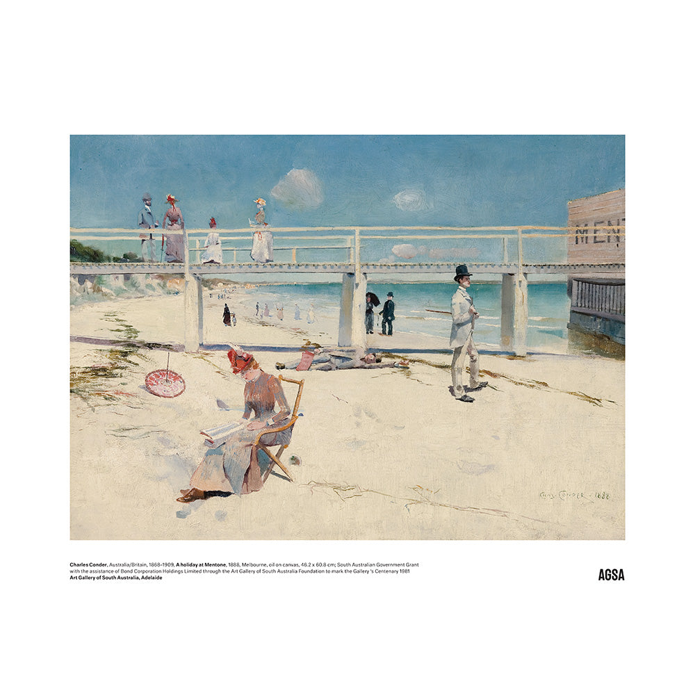 A holiday at Mentone by Charles Condor - A3 Print
