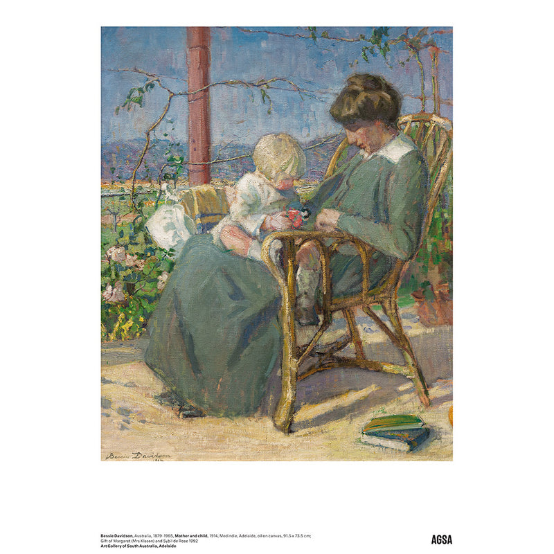 Mother and child by Bessie Davidson - A3 Print