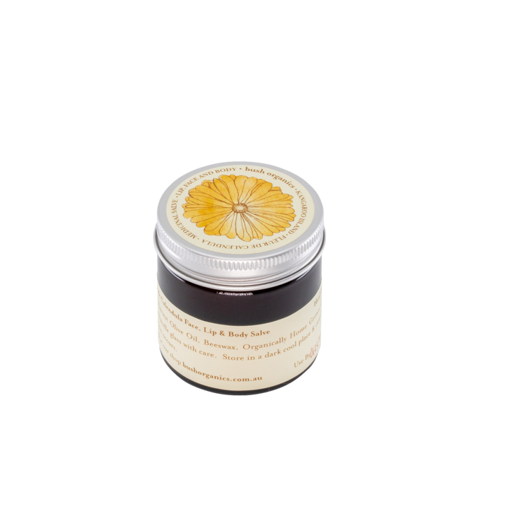 Bush Organics Fleur de Calendula Lip, Face & Body Salve - 60ml