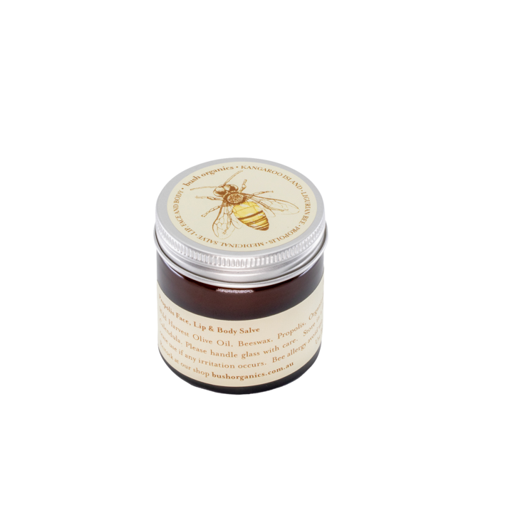 Bush Organics Propolis Lip, Face & Body Salve - 60ml