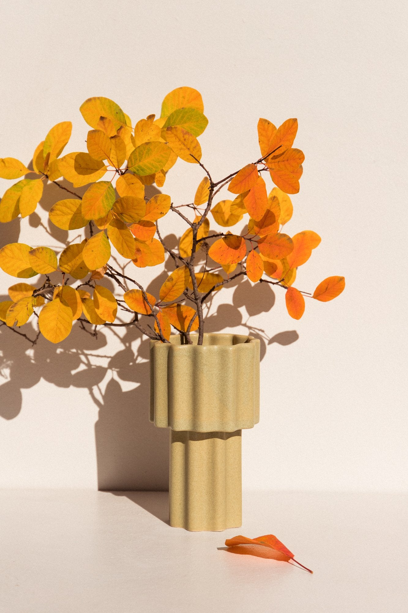 The Ella Reweti Tall Tapered Vase in Wheat on Makers' Mrkt Melbourne