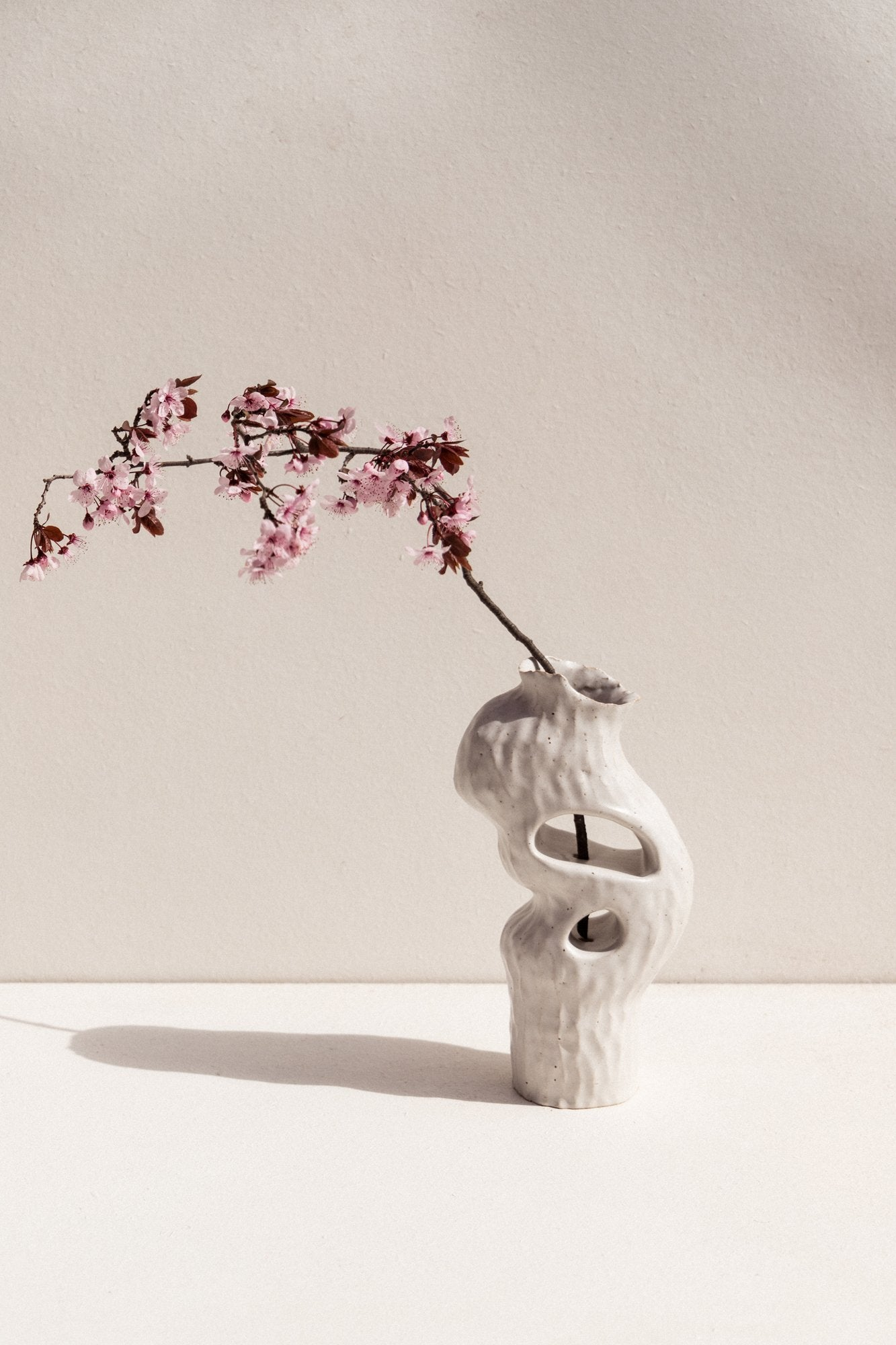 Kerryn Levy White Onishi ceramic vase on Makers' Mrkt Makers Market Melbourne