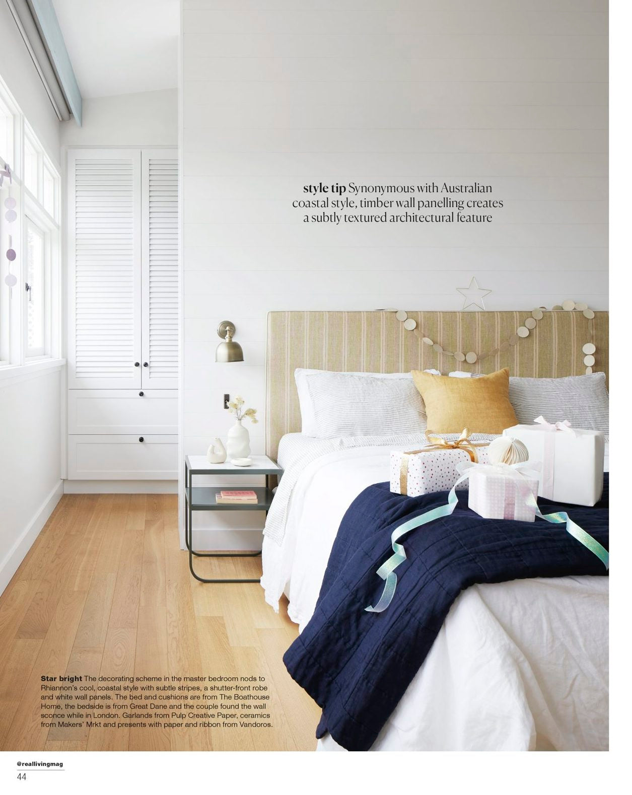 Makers' Mrkt ceramics featured in Real Living Magazine 2020 December Christmas issue