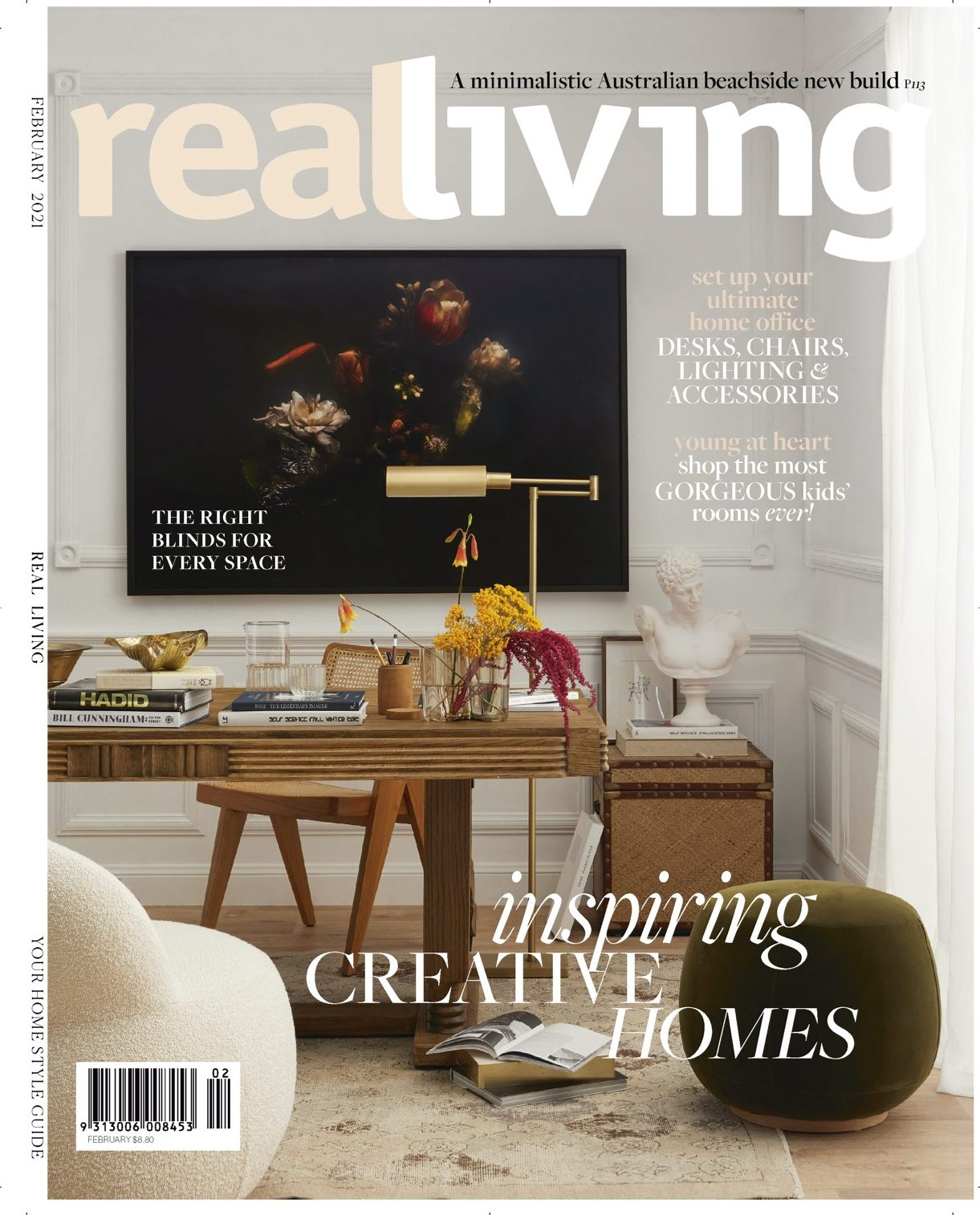 Makers' Mrkt ceramics and homewares as seen in Real Living Magazine Australia February 2021