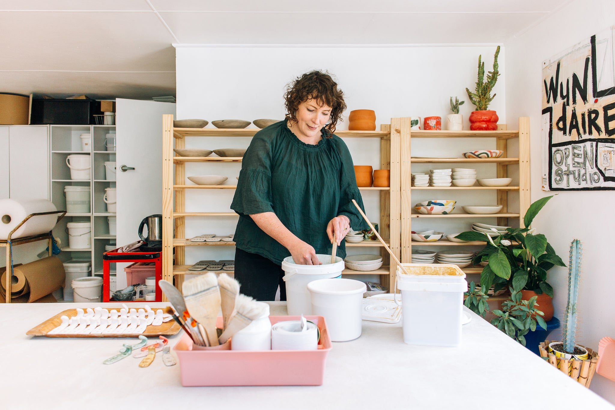 the ceramics studio of Felicity Donaldson from Wundaire in Wellington. Maker's Mrkt Maker's Market Melbourne