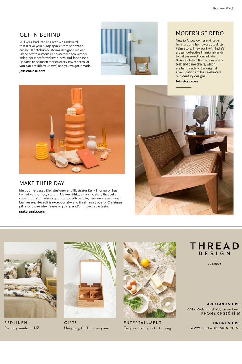 Makers' Mrkt ceramics and homewares in Homestyle Magazine issue 99 Scout Page
