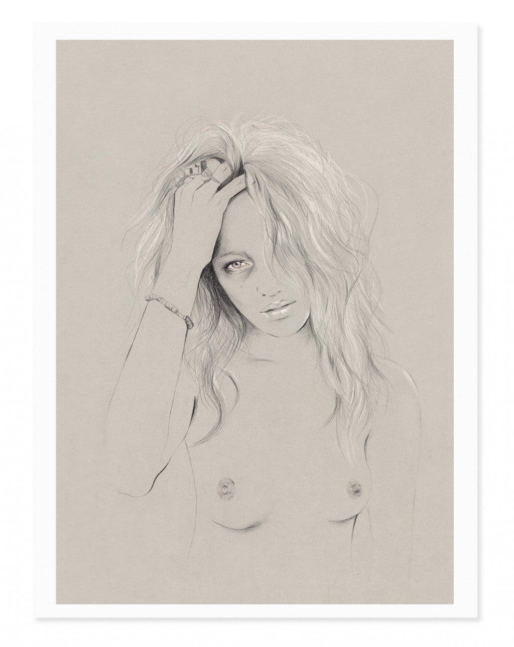 Kelly Thompson art print portraiture illustration Melbourne Maker's Market Maker's Mrkt