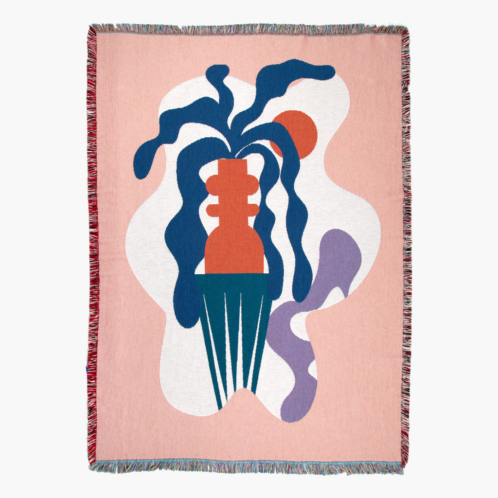 Slowdown Studio Badu Throw blanket on Makers' Mrkt Melbourne