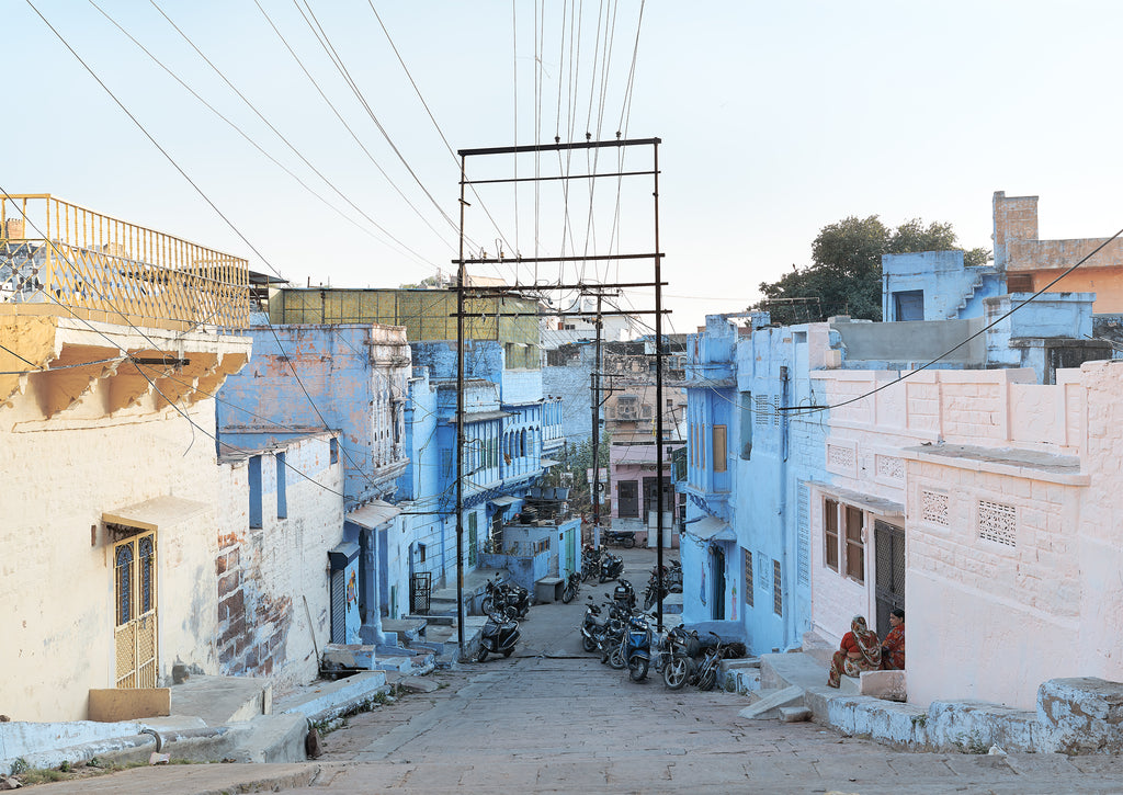 Zico Oneill Blue street, Jodhpur, India photographic print on Maker's Mrkt Makers market Melbourne