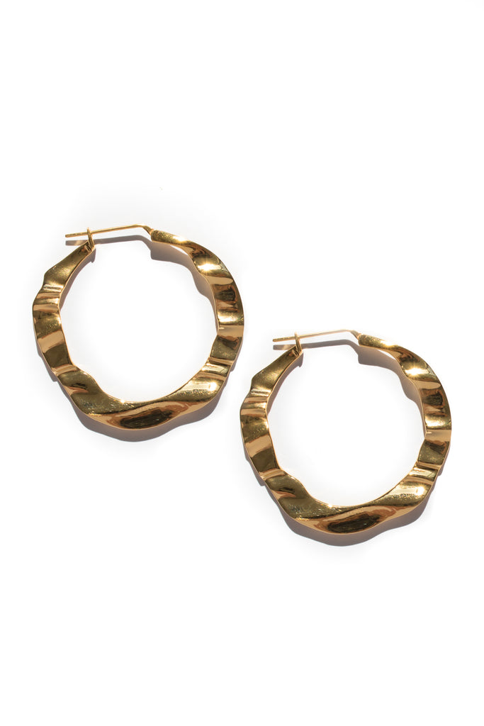 gold plated brass Haze Hoops by flash jewellery on Makers Market Melbourne Makers Mrkt
