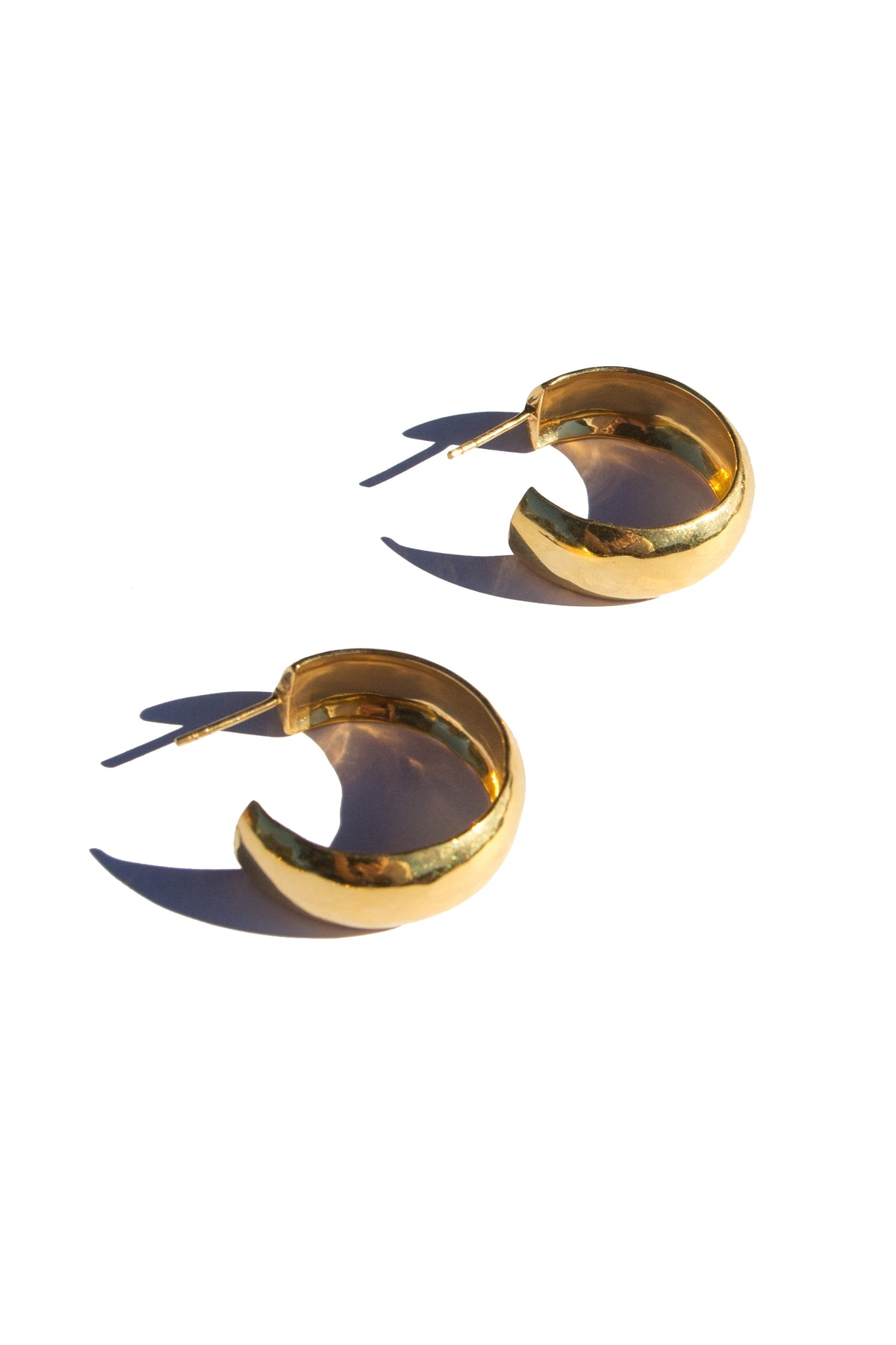 Flash jewellery Hollow Hoops in 18ct gold available on Maker's Mrkt Makers Market melbourne