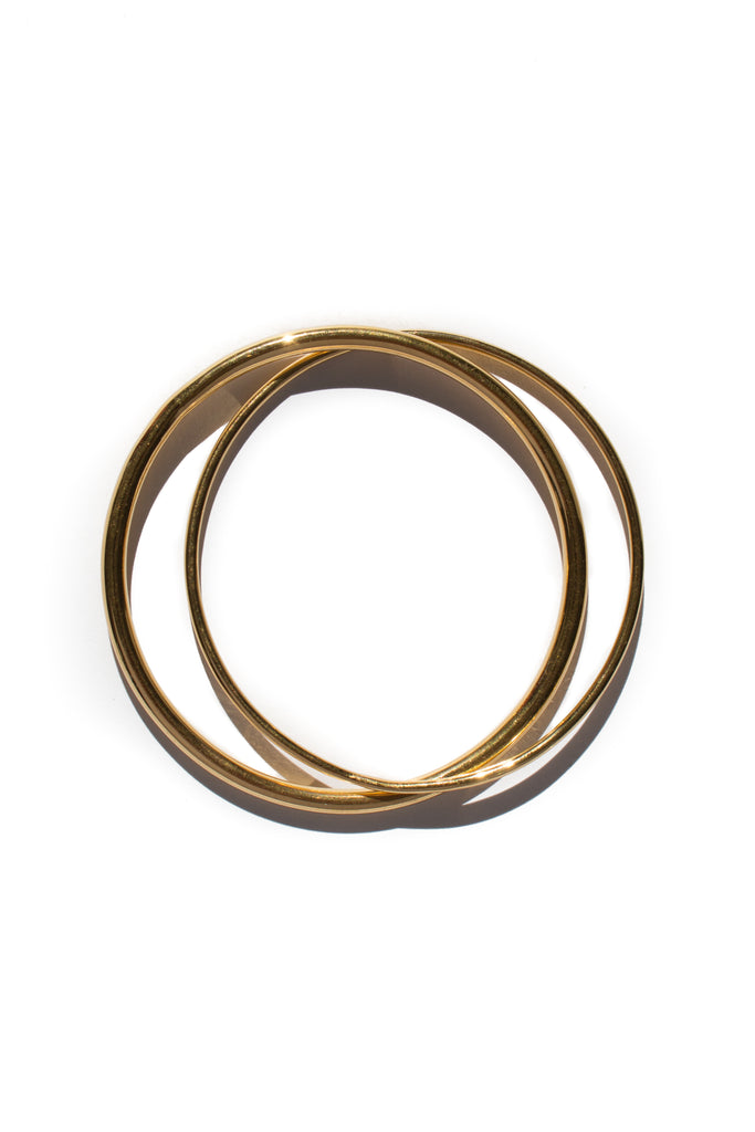 gold plated brass bangle set by flash jewellery on Makers Market Melbourne Makers Mrkt