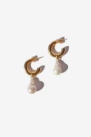Paloma Pearl Hoops (35mm)