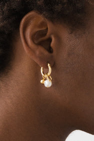 Flash Jewellery Vacation Charm Sleeper Hoops 14k Vermeil on Makers' Mrkt Makers Market Melbourne
