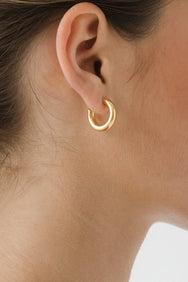 Flash Jewellery gold Goldie Hoops earrings on Makers' Mrkt, Makers Market Melbourne