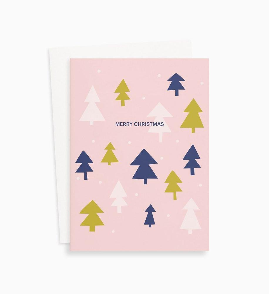 Allison Willoughby Happy Holidays contemporary Christmas card on Maker's Mrkt melbourne