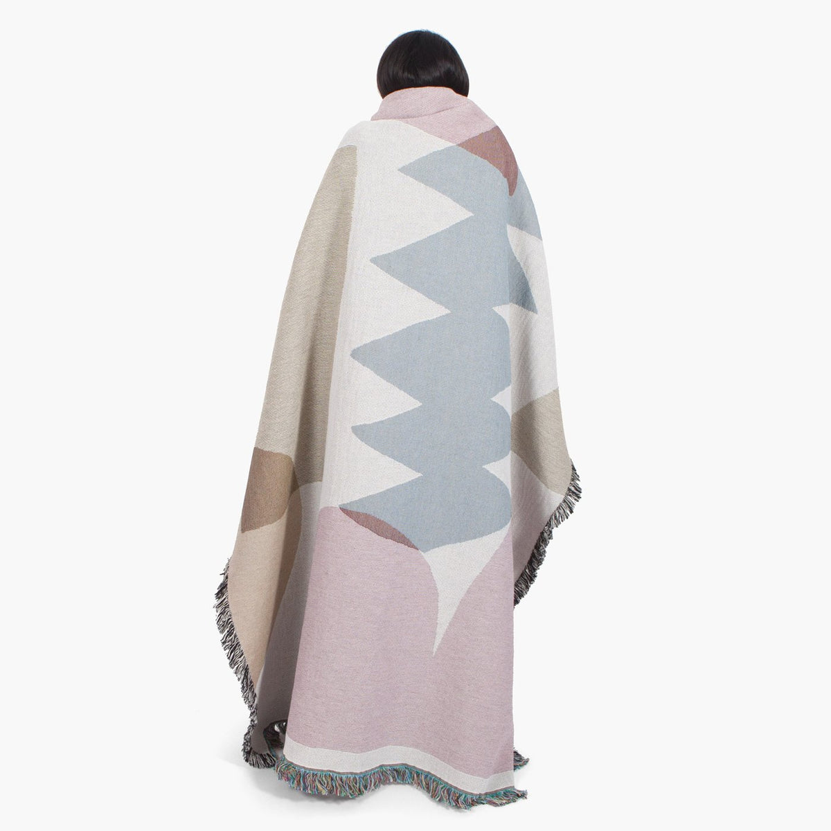 hanna Konola Holloway Throw by Slowdown Studios white abstract shape rug Makers Mrkt Makers Market Melbourne